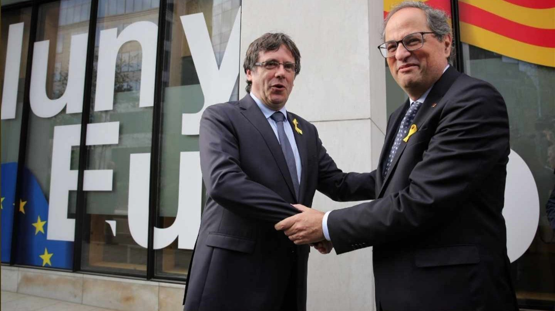Puigdemont y Torra en Bélgica.