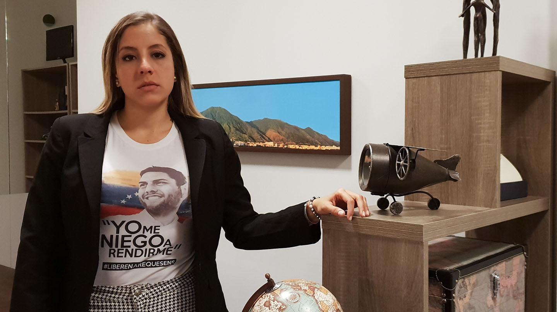 Rafaela Requesens, dirigente estudiantil venezolana y hermana del diputado opositor preso Juan Requesens.