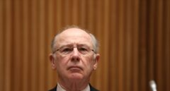 Rodrigo Rato, ex presidente de Bankia, comparece en la Comisión de Investigación sobre la crisis financiera.