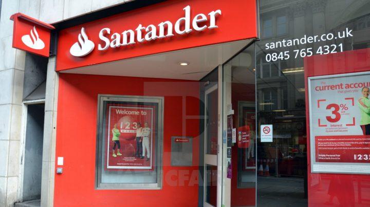 Una sucursal de Santander en Manchester.