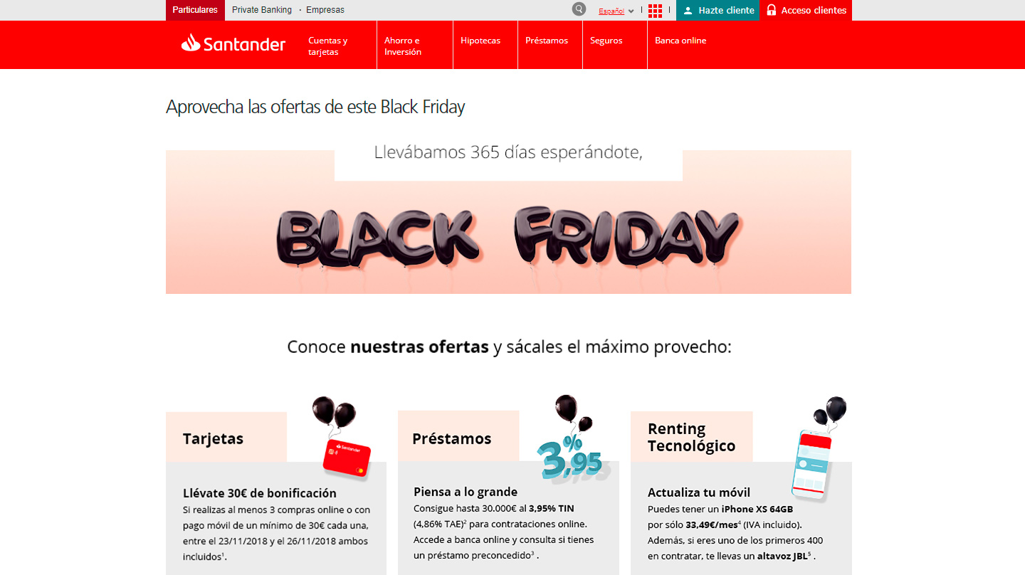 Santander Black Friday