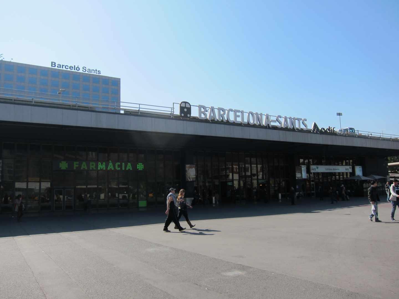 Estación de Sants, en Barcelona.