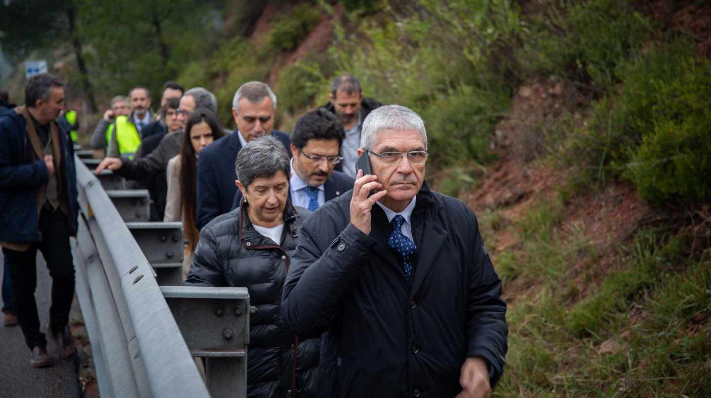El presidente de Renfe Isaías Taboas en el lugar del accidente del Rodalíes, este martes.
