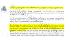 Acta de la declaración de Víctor Duque ante la juez que instruye el caso.