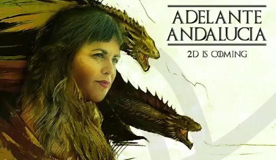Un fragmento del vídeo de Podemos con Teresa Rodríguez caracterizada.