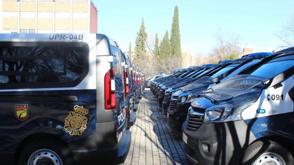 Vehículos de la Policía Nacional incorporados a la flota en diciembre de 2017.