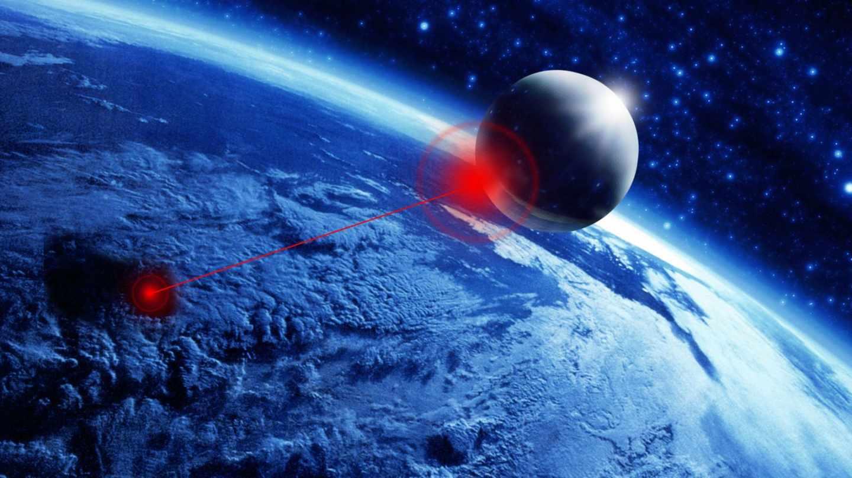 Recreación de una vela esférica propulsada por láser desde la Tierra