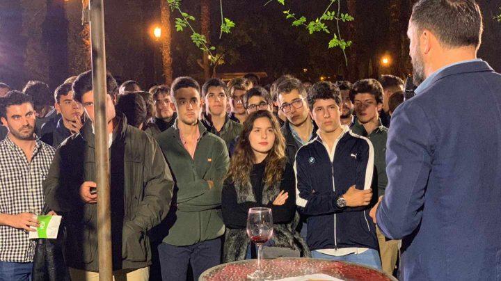 Santiago Abascal, en el acto de Vox en Sevilla.