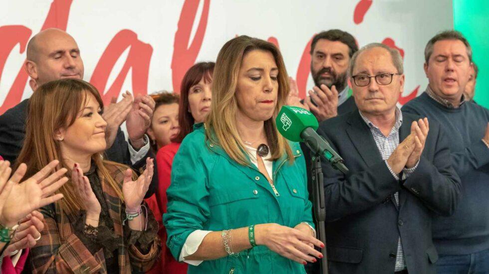 Susana Díaz la noche electoral