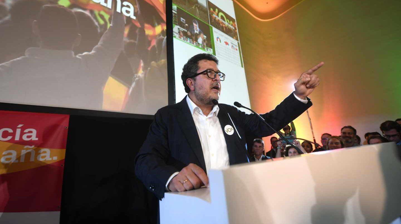Francisco Serrano, líder de Vox en Andalucía, tras conocerse el escrutinio del 2-D.