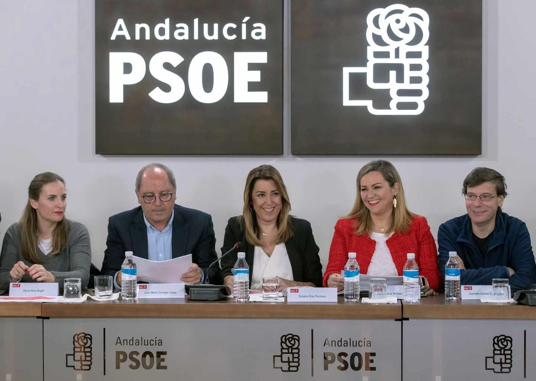 Susana Díaz preside la Ejecutiva del PSOE andaluz.
