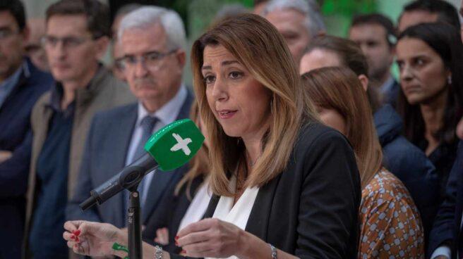 Susana Díaz, tras la Ejecutiva del PSOE andaluz.