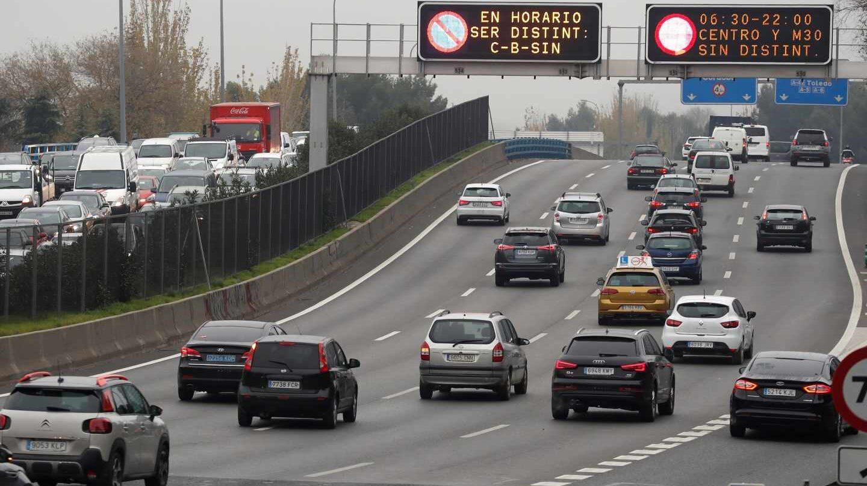 Los elevados niveles de dióxido de nitrógeno obligaron al Ayuntamiento de Madrid a activar por primera vez el escenario dos de su protocolo anticontaminación.