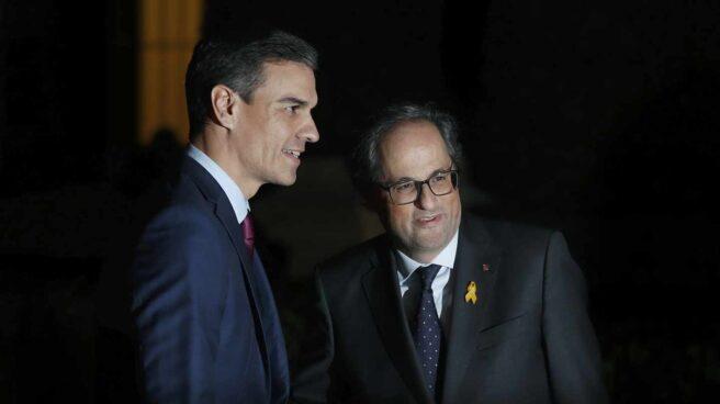 Pedro Sánchez y Quim Torra, en Barcelona.