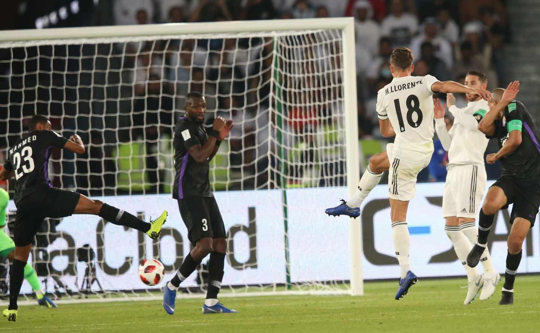 Marcos Llorente logra el segundo gol del Real Madrid en la final.