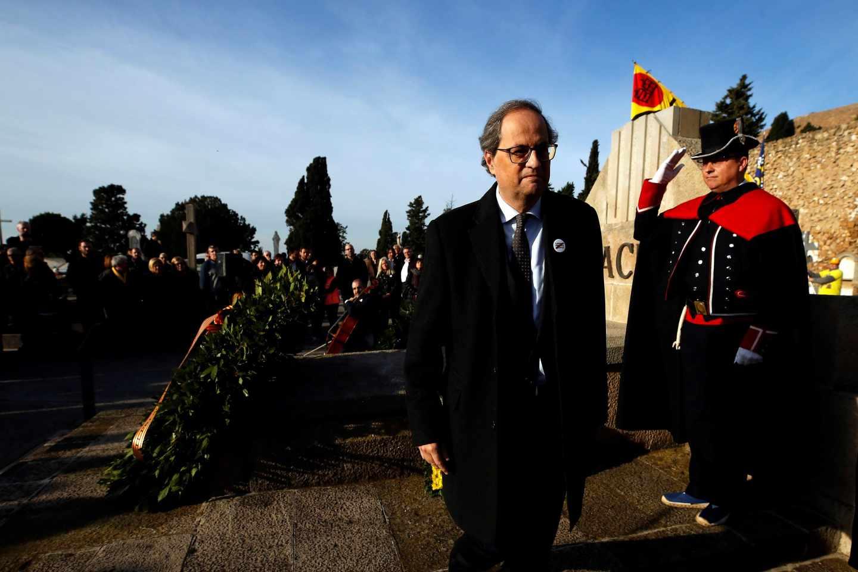 Quim Torra, en el homenaje a Francesc Macià.