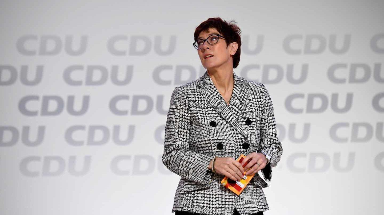 Annegret Kramp-Karrenbauer, hasta ahora secfretaria general de la CDU, en Hamburgo.
