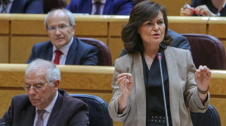 Carmen Calvo, en el Senado.