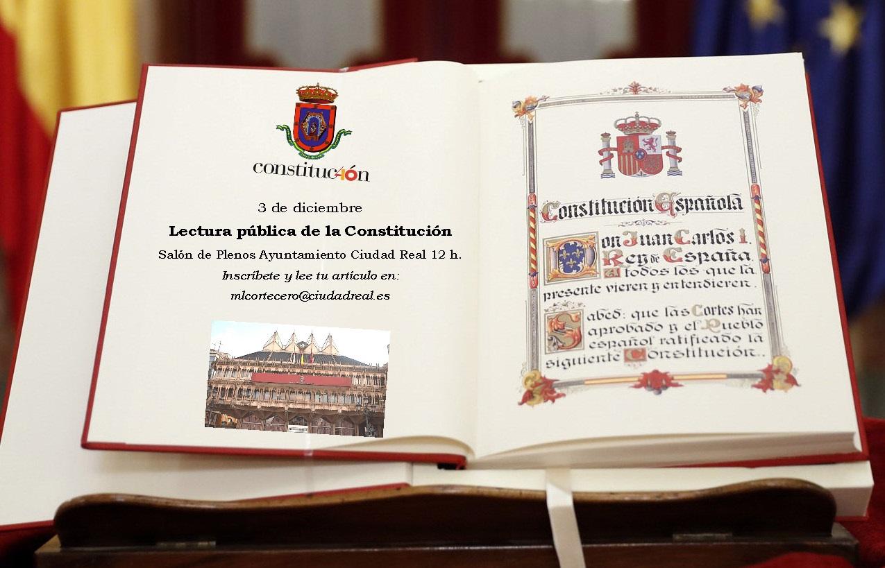 Ejemplar de la Constitución.