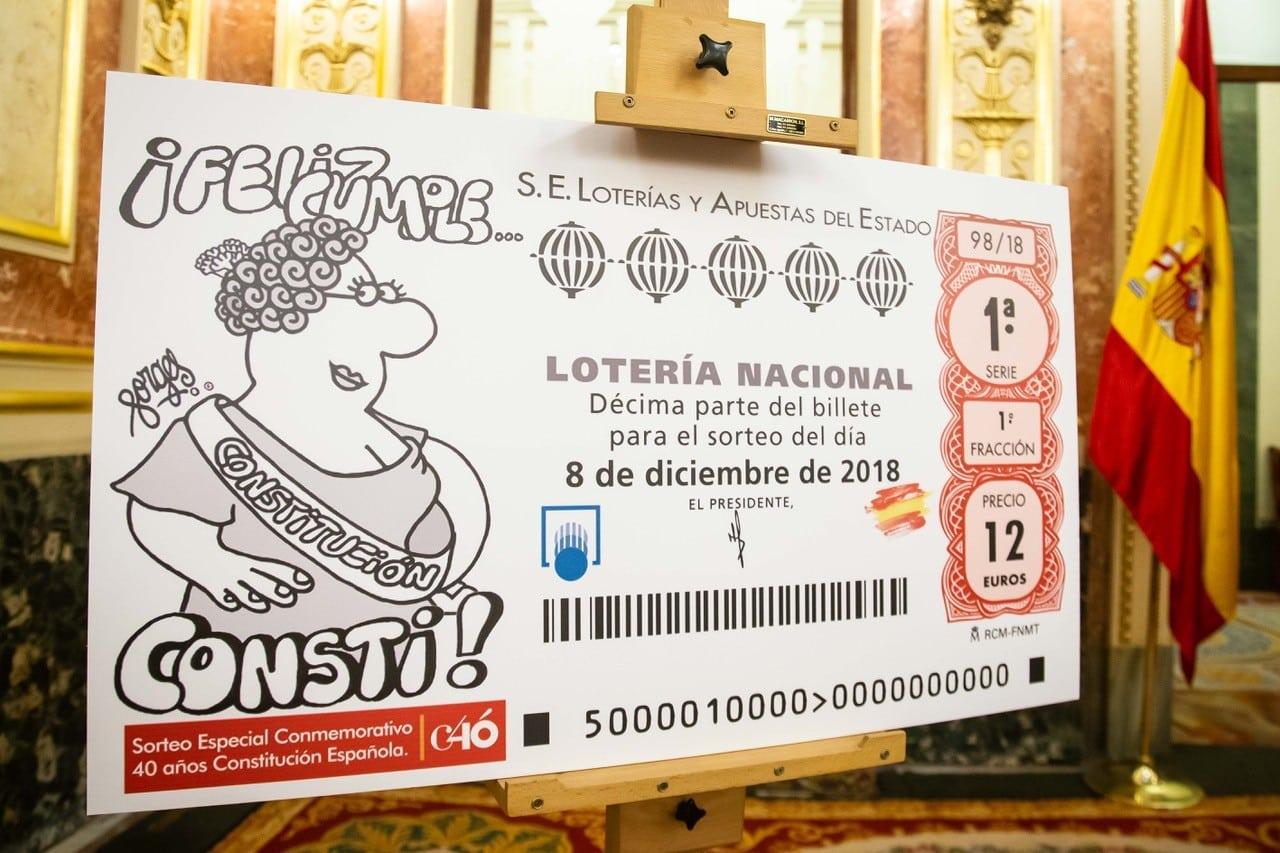 Décimo sorteo de lotería nacional por el 40 aniversario de la Constitución