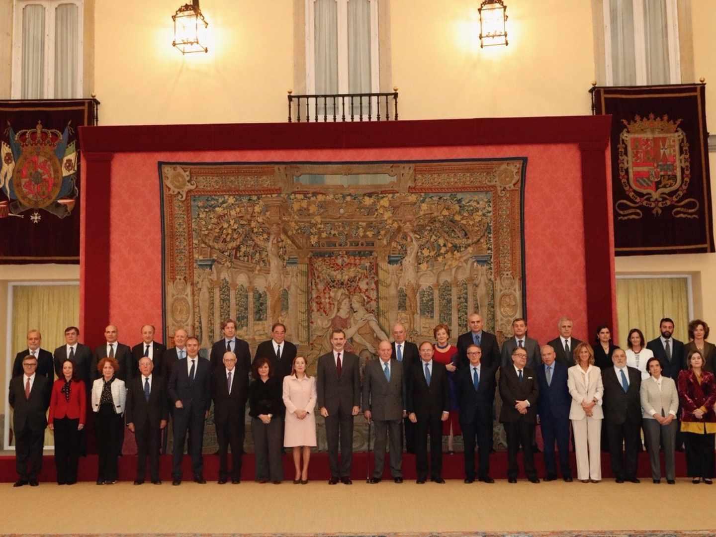 El Consejo Asesor del 40 aniversario ha sido recibido por S.M. el Rey, Felipe VI, y por el Rey Don Juan Carlos