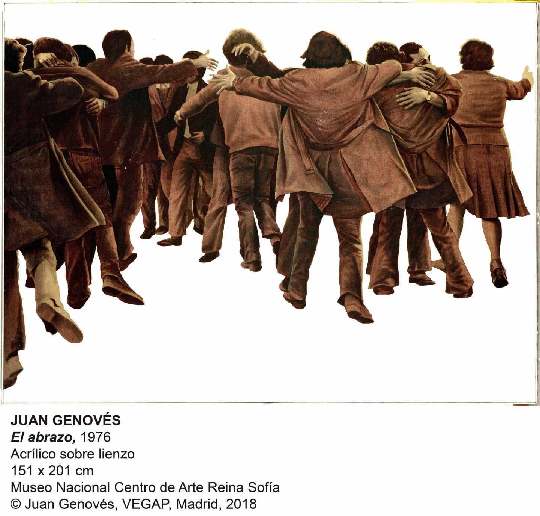 'El abrazo' (1976) de Juan Genovés