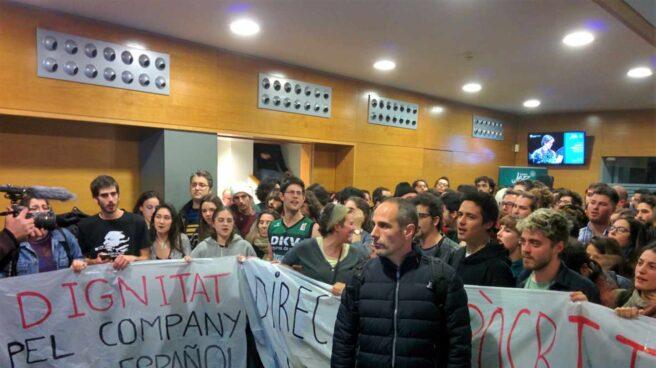 Estudiantes del Conservatorio del Liceu protestan por el acto de Cs