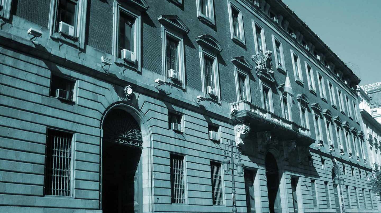 Fachada del Ministerio de Hacienda en Madrid.