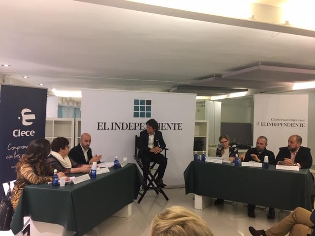 Mesa redonda organizada por CLECE y El Independiente.