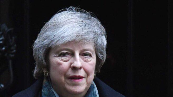 Theresa May, primera ministra británica, antes de su comparecencia en el Parlamento.