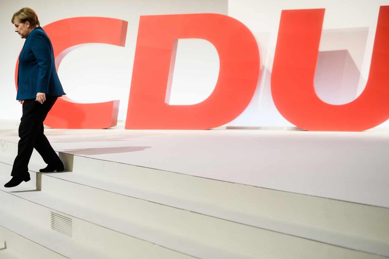 Merkel en el congreso de la CDU en hamburgo
