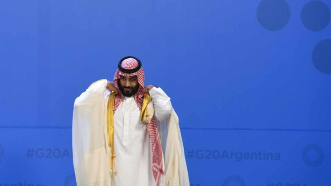 Mohamed bin Salman, heredero saudí, en el G-20 en Buenos Aires.