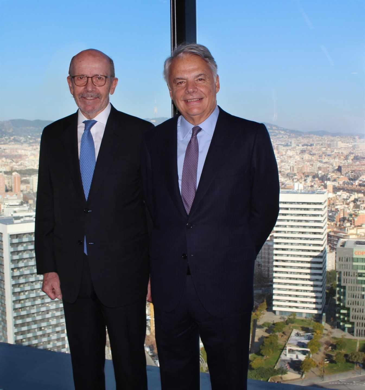 El presidente de EDM, Eusebio Díaz-Morera, e Ignacio Garralda, presidente de Mutua Madrileña.