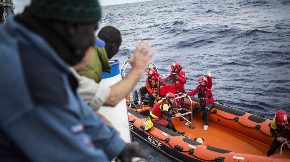 Los 11 náufragos rescatados por Nuetsra Madre Loreto en Malta