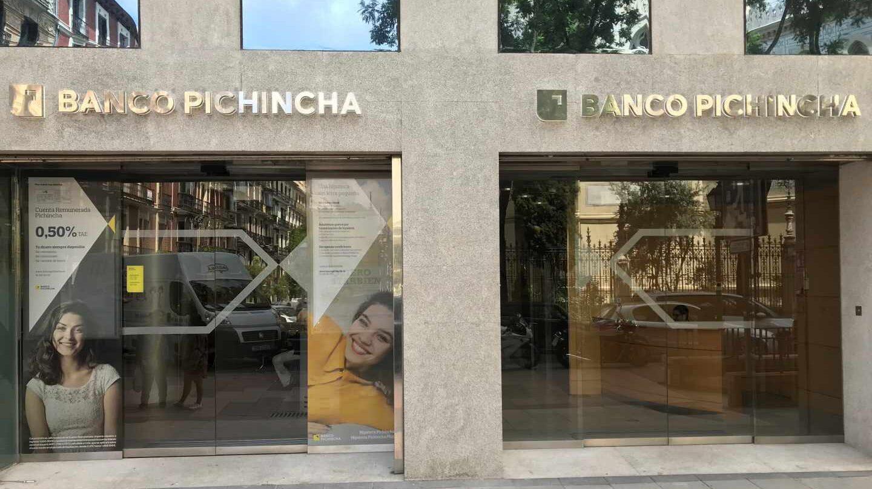 Oficina de Pichincha en Madrid.