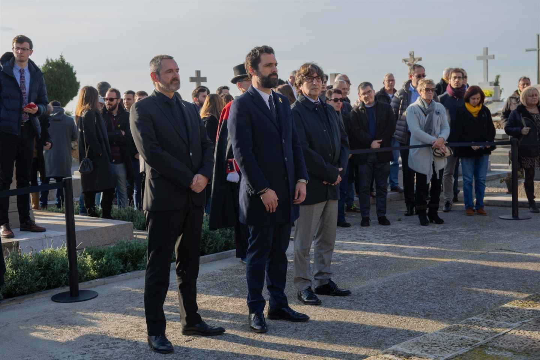 Roger Torrent, en el homenaje a Francesc Macià.