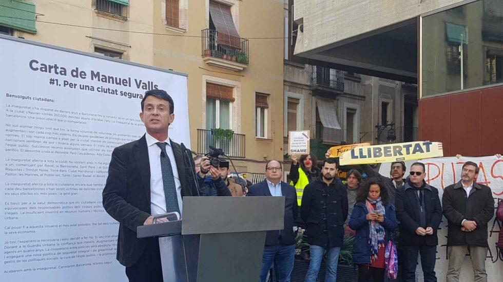 Manuel Valls, en un acto en Barcelona.