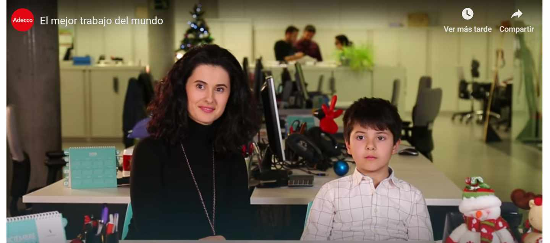 Imagen del vídeo de la felicitación de Navidad de Adecco.