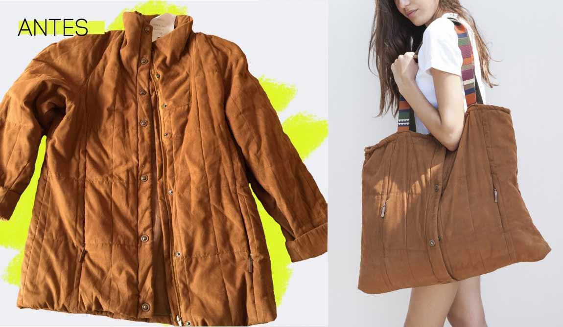 El abrigo que se convierte en bolso de Upcyclik.