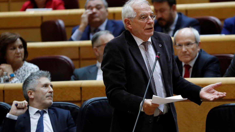 El ministro de Exteriores Josep Borrell, durante una sesión en el Senado.