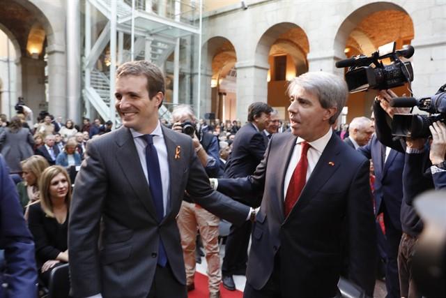 Casado junto a Garrido en un acto en la Comunidad de Madrid el martes de la semana pasada