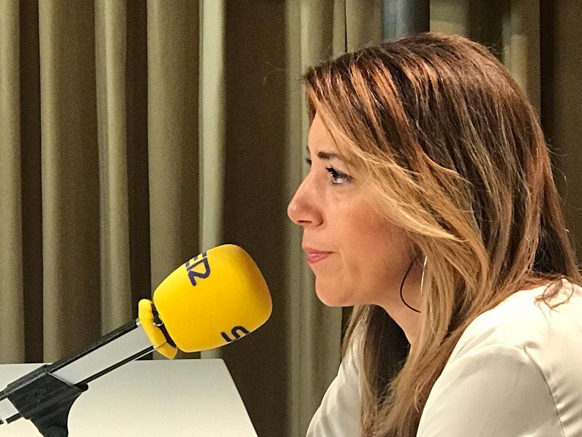 Susana Díaz, en una entrevista en la Cadena SER.