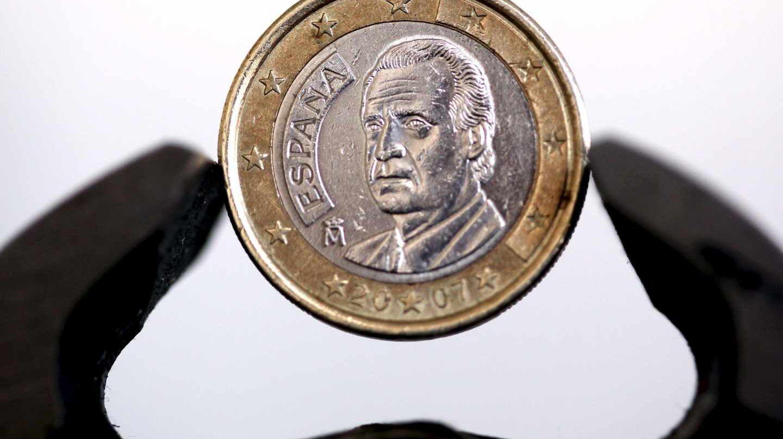 Moneda de euro acuñada en España.