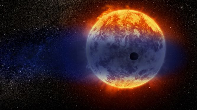 Recreación de un exoplaneta evaporándose