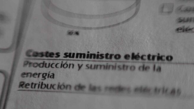 Factura del suministro de electricidad.