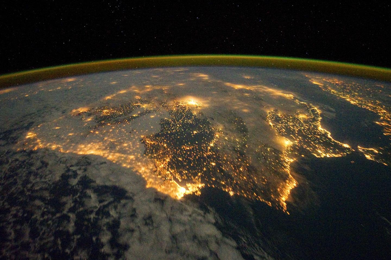 La península Ibérica, vista desde el espacio.
