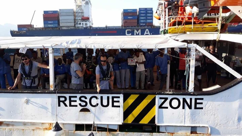 Iniciativa humanitaria al rescate de migrantes en el mediterráneo