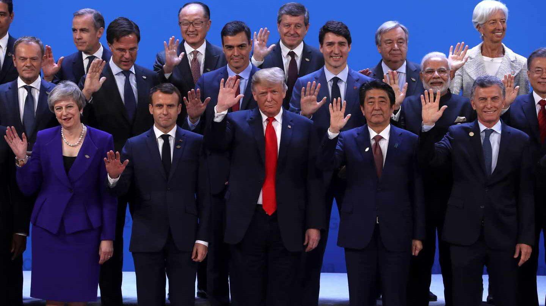Los líderes internacionales, en la foto de familia del G20.