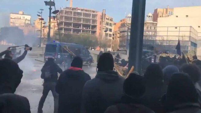 Disturbios en Girona.