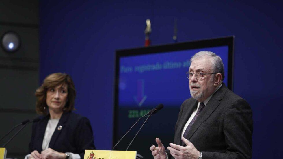 Los secretarios de Estado de Seguridad Social y Empleo, Octavio Granado y Yolanda Valdeolivas.